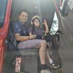 Karol z Marcinem strażakami