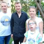 Wspólne zdjęcie z Gospodarzami: Jola Bobińska z mężem Grzegorzem i Julcią