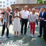 Od prawej: Prezydent Tomasz Trela, Jolanta Bobińska, Piotr Celigowski, Aleksandra Szwed i Marcin Przytulski