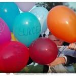 Kolorowe baloniki niosły dobre życzenia i przesłania ;-)