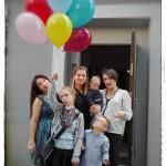 Każdy chciał trzymać balony...