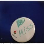 Bartuś z pomocą Cioci Agnieszki zrobił piękny znaczek... Serduszko dla naszej Miss - na szczęście!