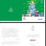 Kartka świąteczna z informacją, komu Castrol w tym roku pomaga